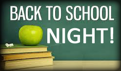 Back to School Night! with books & apple